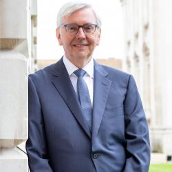 The Vice-Chancellor, Professor Stephen J Toope, at the Old Schools (2020)